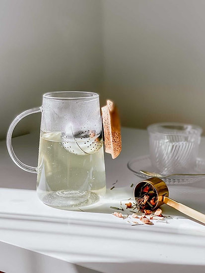 Get the Pong - Oh!T Tea Cup, Magnetic Tea  Infuser Adjusts to Your Taste