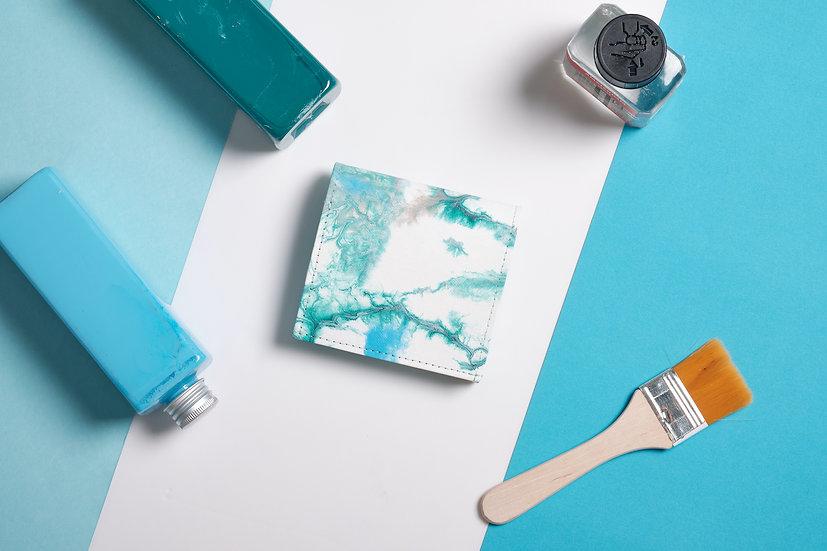 紙造可能 - FreeFlow系列短款紙銀包 (青雲色調)FreeFlow paper purse (Mistery Sky)