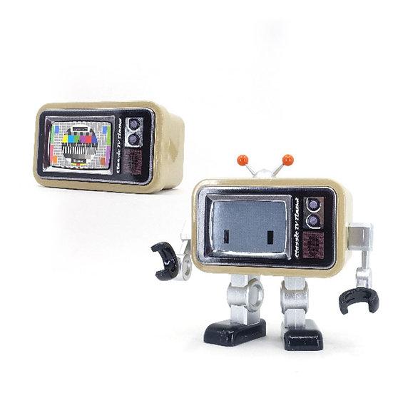 Classic TV TinBot (Beige Color) 真經典電視鐵寶 (卡其色)