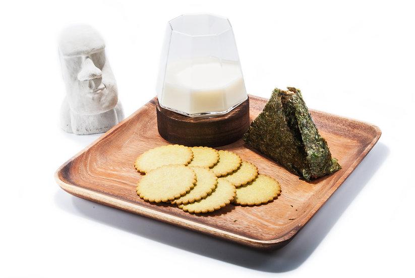 Islandoffer -  Premium Acacia Wood Japanese Square Dessert Plate