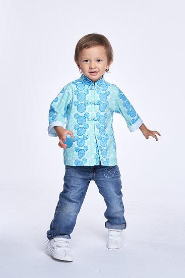 Yi-ming - DISNEY Boys' Mickey Cotton Oriental Jacket