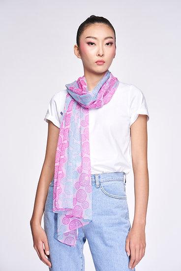 DISNEY Mickey Hera Chiffon Scarf (Pink/ Blue)