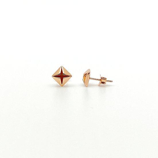 Classic Diamond 14K Rose Gold Earrings - paper diamond®