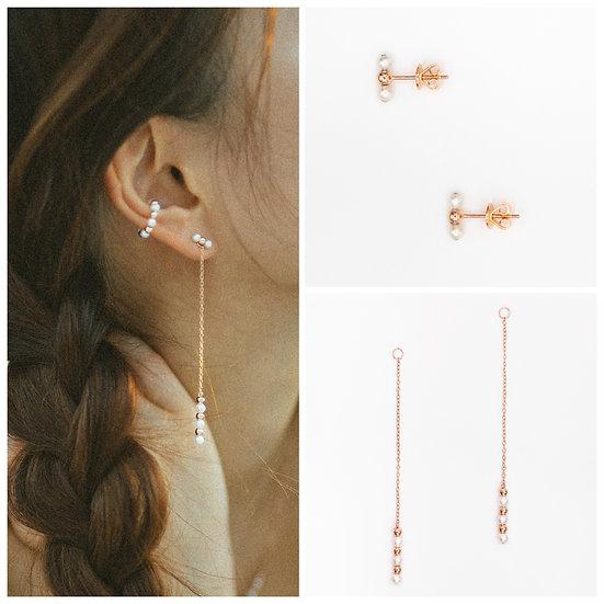 MINI SEEDS Earring set - A Z Z E Jewelry