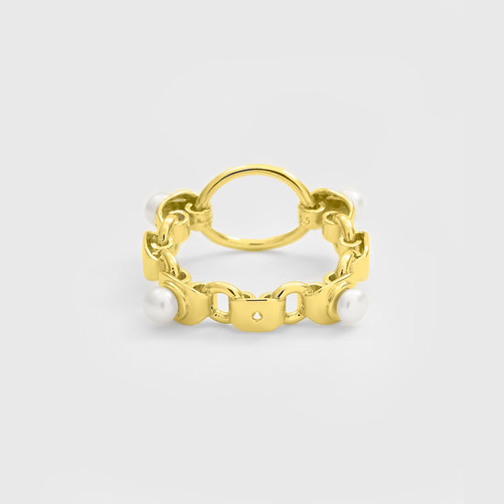 Pearl Mir Ring (Gold) by Re-attach
