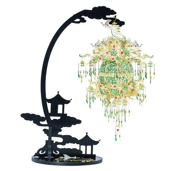 piececool - Silver Sachet With Grape, Flower And Bird Patterns/葡萄花鳥紋銀香囊 (國家寶藏系列)