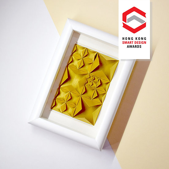 3D Paper Art Frame (Gold) - paper diamond®