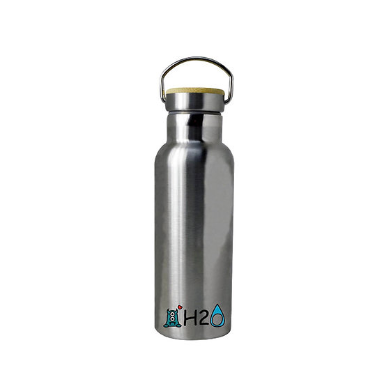 ZeroToOne-Stainless Steel Thermos Bottle with Bamboo Lid /茶創樂-竹蓋不銹鋼牛奶瓶 (350ml)