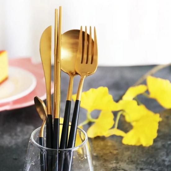 Islandoffer - 304 Stainless Steel Western Tableware Set ,Knife And Fork Spoon