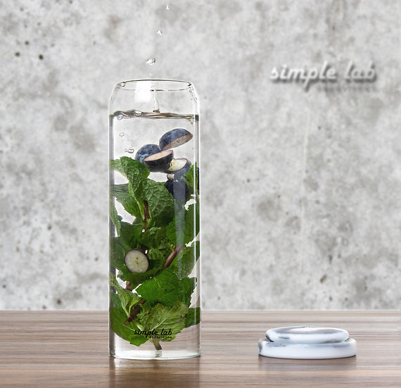 RINBO. Leak-Proof Glass Bottle For Hot & Cold