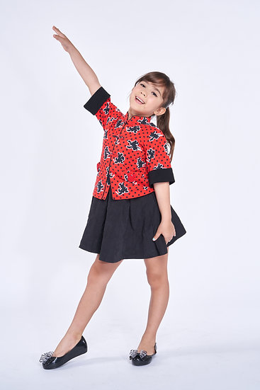 Yi-ming - DISNEY Girls' Kungfu Mickey Cotton Oriental Jacket