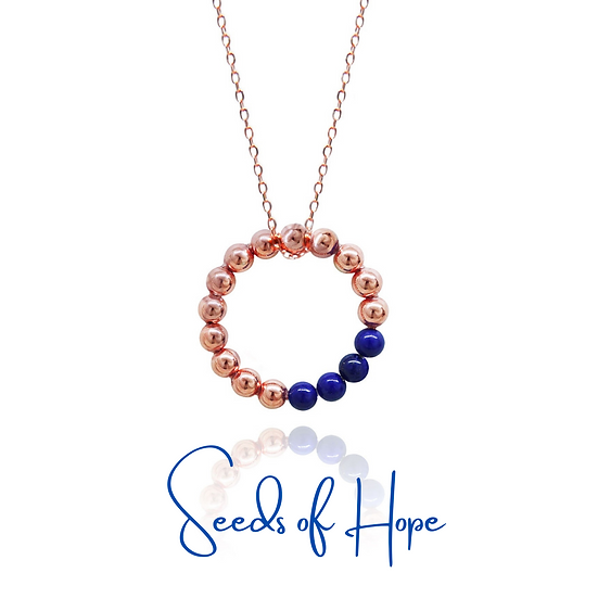 Seeds of Hope Necklace (Navy)