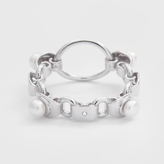 Re-attach - Pearl Mir Ring (Silver) / 米爾珍珠心形戒指