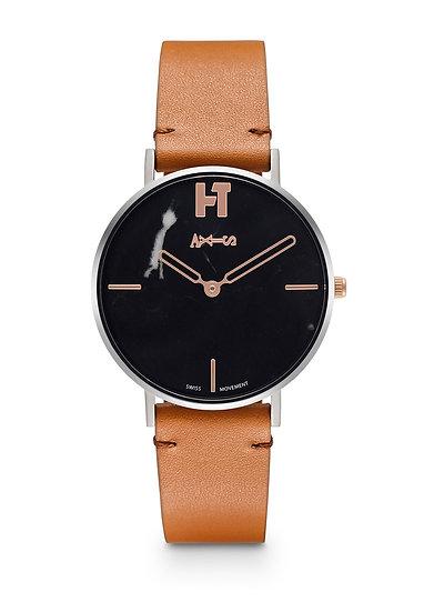 AXIS X Hotitle - Titanium Watch (Black / Brown)