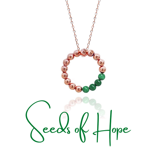 AZZE Jewelry - Seeds of Hope Necklace (Green) / 希望種子 項錬(綠孔雀)