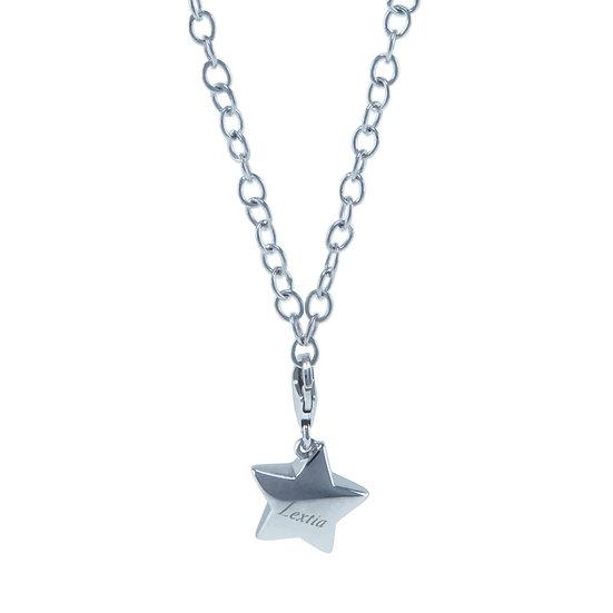 Lextia - 925 Silver Simply Silver Chain with Star Charm / 925 純銀 簡單銀鏈連星星吊飾