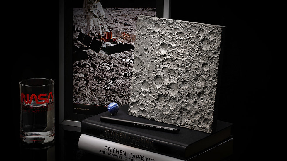 DeskSpace - Lunar Surface - Large (Wall Hanging)