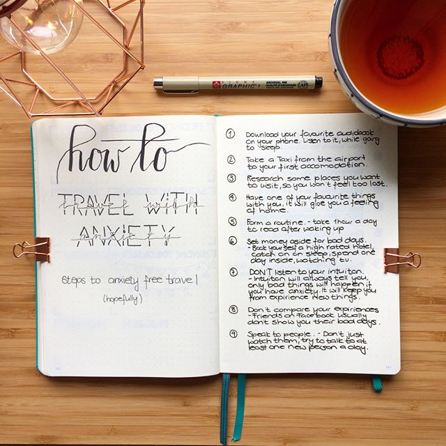 @bulletjournalzurich How To Travel With Anxiety