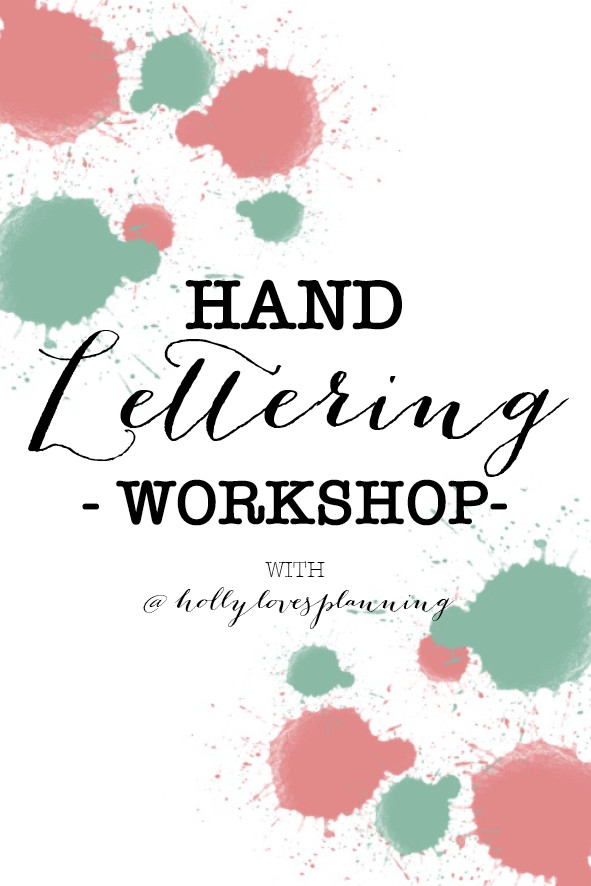 Hand Lettering Workshop - What to expect