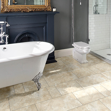 2334 Portico Limestone with Grey Grouting Strip