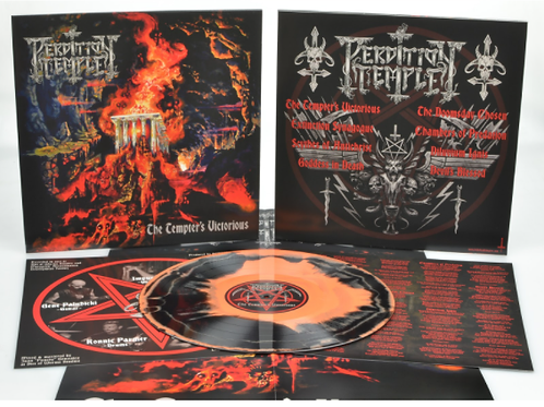 "PERDITION TEMPLE - The Tempter's Victorious (12"" Orange/B. Swirl Vinyl + Poster)"