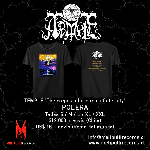 TEMPLE - The crepuscular circle of eternity (POLERA)