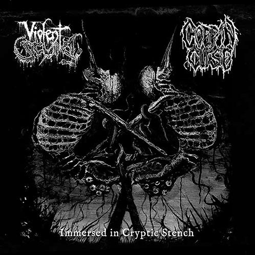 VIOLENT SCUM / COFFIN CURSE - Immersed in Cryptic Stench (Split CD)