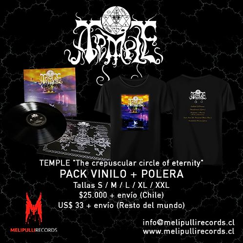 TEMPLE - The crepuscular circle of eternity / PACK, POLERA + VINILO 12""