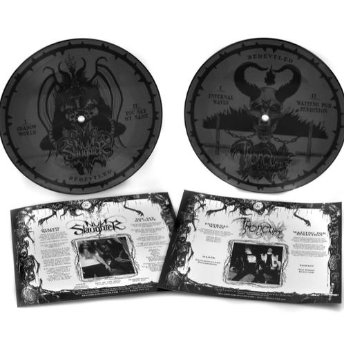 "NUNSLAUGHTER / THRONEUM - Bedeviled (Vinyl 7"" PICTURE DISC)"