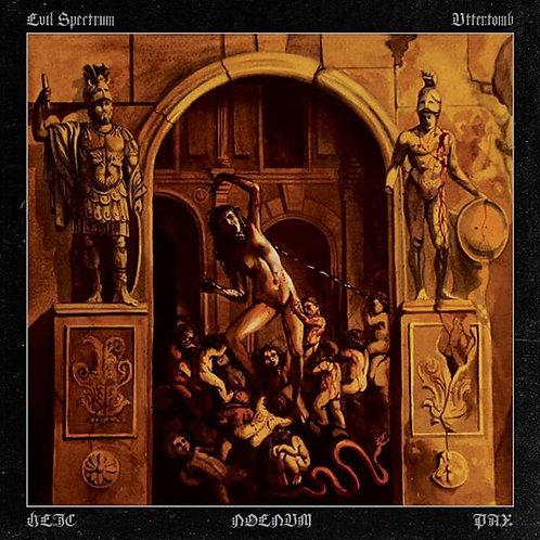 """UTTERTOMB/ EVIL SPECTRUM - SPLIT (Black Vinyl 12"""")"""