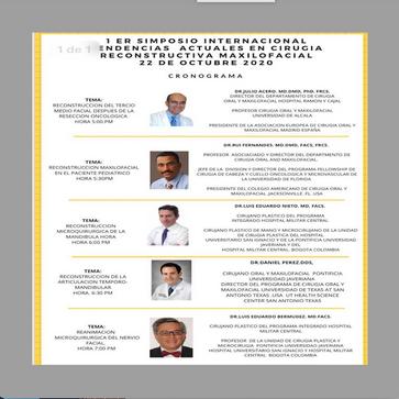 Conferencista en Simposio Internacional - Reconstrucción Microquirúrgica de Mandíbula