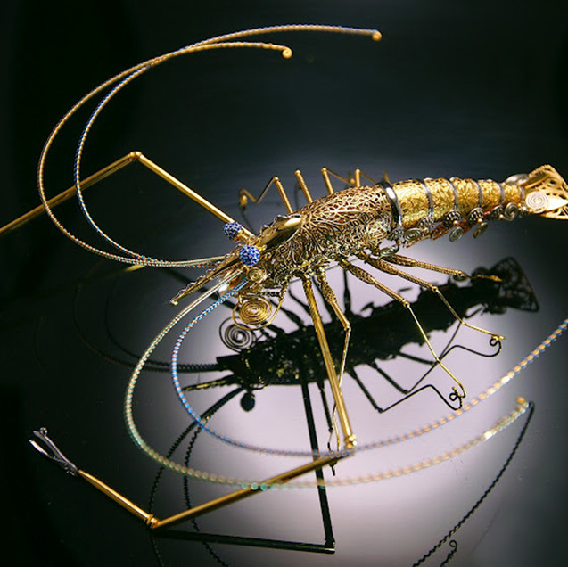雙色長腳蝦