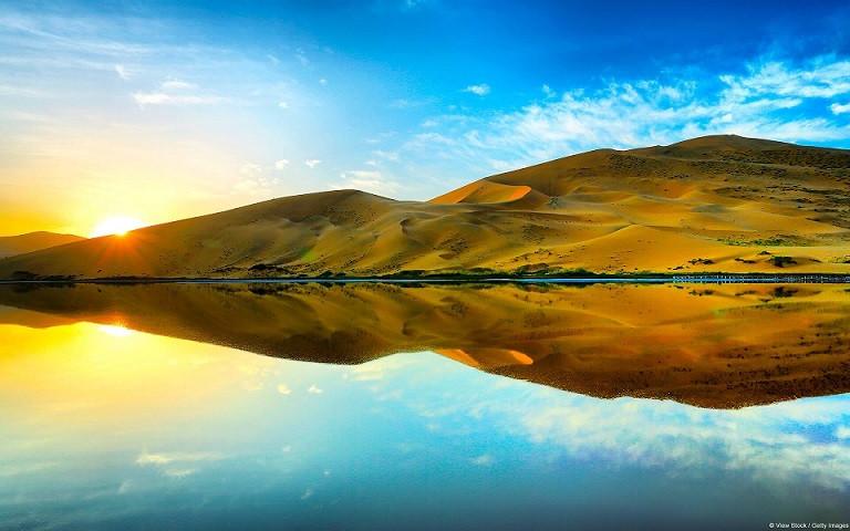 バダインジャラン砂漠 (内モンゴル)@いいかべ珪藻土ブログ