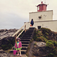 The light house in Ueculet, BC