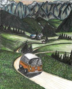 Van Buggy in Italian country side