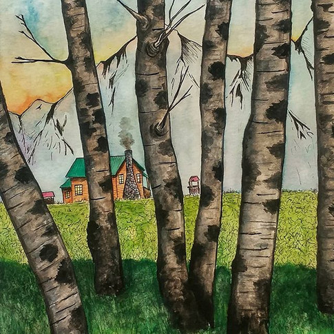 Beyond the Birch trees is where you will find your cabin