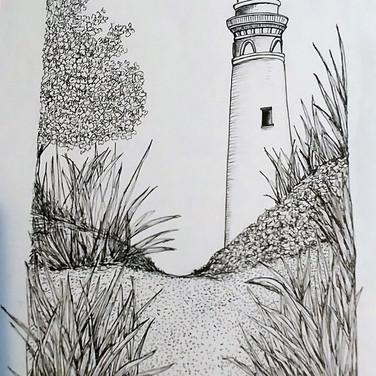 Light house on the beach