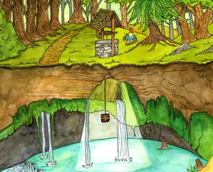 Gnome and Well illustration