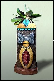 Corn Maiden's Prayer III, bronze sculpture, Greyshoes