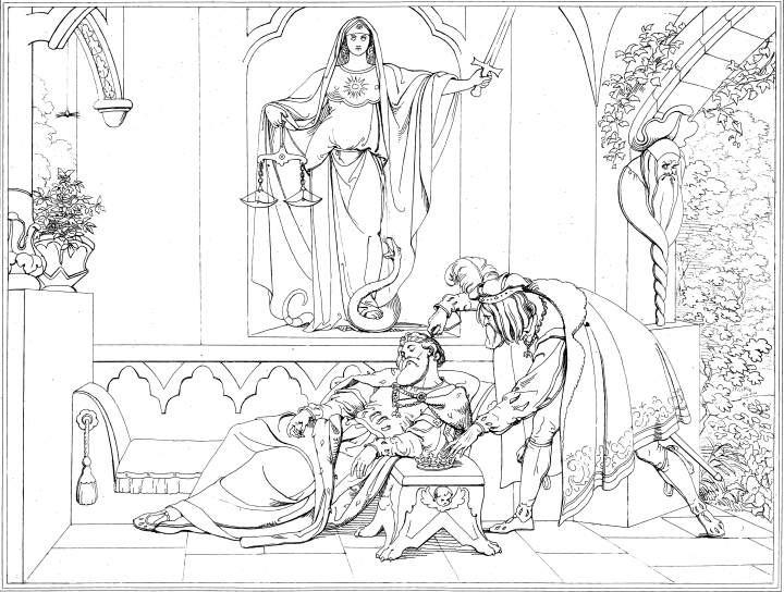 illustration: The Murder of King Hamlet