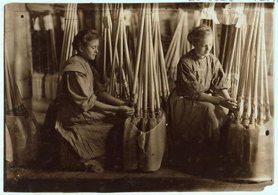 Broom factory, Indiana, 1908