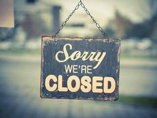 We are Closed / お休みのお知らせ