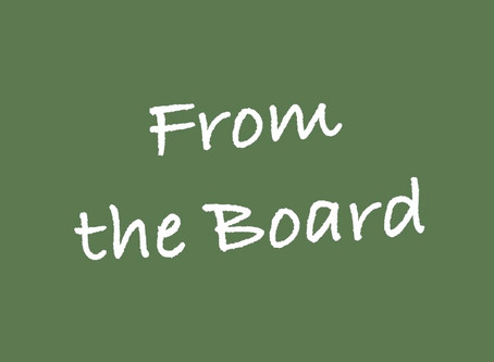 FROM THE BOARD: New Roles and New Offerings