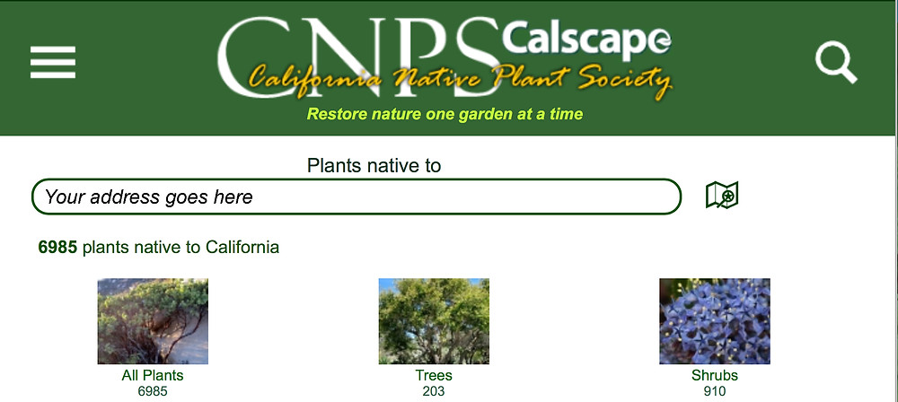 Calscape provides users with location-appropriate native plant options.