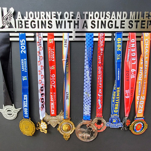 1K Journey of a thousand miles... Medal Hanger 30""