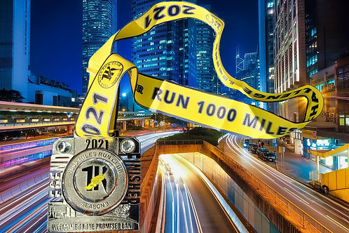 2021 'RUN 1000 MILES CHALLENGE' FINISHERS SPINNER MEDAL RUNNING 1K RUN CLUB