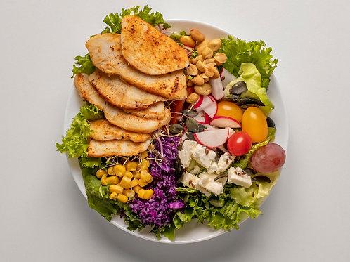 Velký salát s masem (450g)