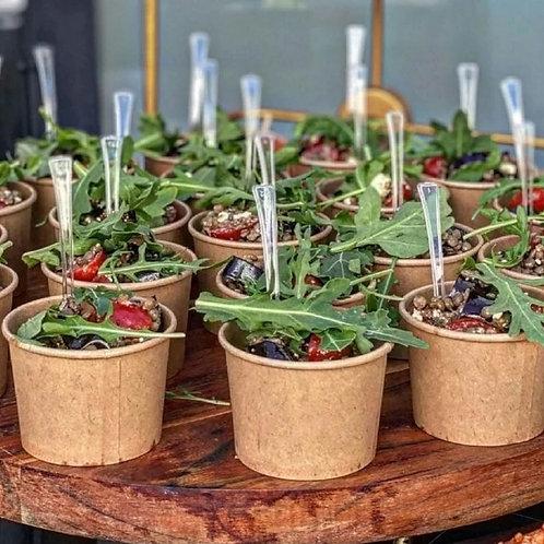Zeleninový salát - jednotlivé porce