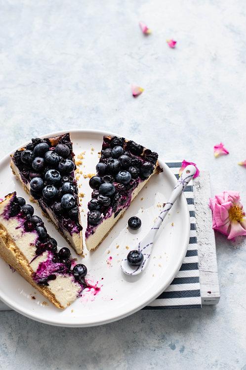 Cheesecake s ovocem dle výběru (celý dort)