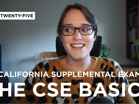 California Supplemental Exam: The Basics